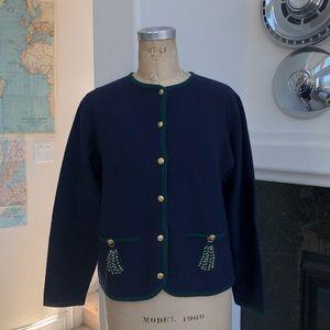 Vintage Pendleton 100% virgin wool tassel sweater